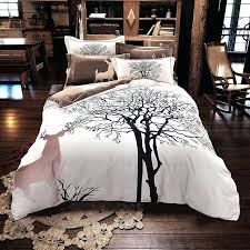deer duvet cover tree deer print bedding set thick sanding cotton queen king size winter duvet deer duvet cover canada