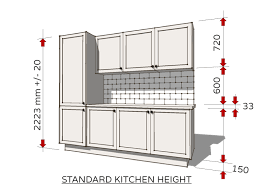 standard kitchen wall cabinet height from floor photo 1