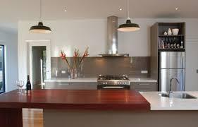 Timber And White Modern Kitchen Tiled Floor Wonderful Furniture