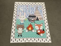 Woodland animal fabric panel. Juvenile fabric. Unisex baby & Description. WOODLAND PANEL Adamdwight.com