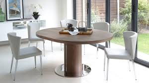 kitchen modern wood round dining table modern white dining room