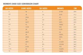 Shoe Size Conversion Chart Women How To Find The Youth Equivalent Of Womens Shoe Sizes