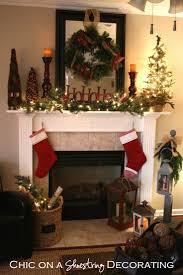 Surprising Fireplace Christmas Decorating Ideas Images Decoration. Decorate  Chimney Christmas Decorations