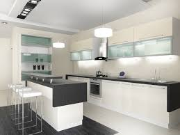 modern white kitchen. Black, White And Glass Modern Kitchen. Kitchen U