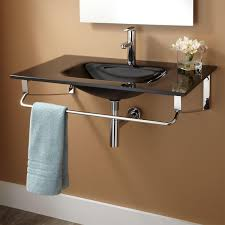 yesler wallmount glass sink  bathroom
