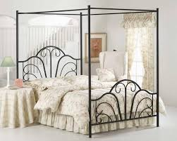 Claudio Rayes 20 King Sized Solid Wrought Iron Bed With Canopy  EBayCanopy Iron Bed