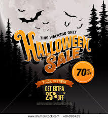 halloween sale flyer halloween sale vector illustration stock vector 332400461