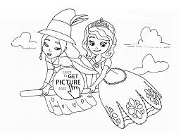 Lucinda And Sofia The First Coloring