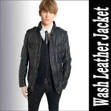 leather jacket men natural sheep skin special wash processing leather leather jacket leather jacket mens jacket rock fashion therapy mode