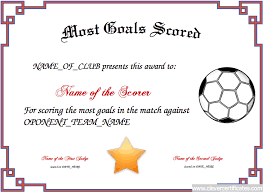 parenting certificate templates most goals scored free certificate templates for kids sport and
