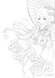 Anime Color Pages Anime Coloring Book Pages By Manga Adult Info