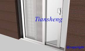 customized two panels aluminum sliding door with one fixed one sliding panel for villa