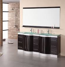 modern double sink bathroom vanities. Jasper Double Sink Vanity Set With Tempered Glass Countertop DEC023-GTP By Design Element. VanityDouble Bathroom VanitiesModern Modern Vanities N