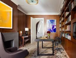 office wood paneling. Townhouse Office Wood Paneling