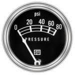 stewart warner instrumentation and service parts gauges only no speedometers or tachometers electrical mechanical instruments classic white on black graphics white pointers and flat stainless