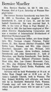 Bernice Mueller obituary - Newspapers.com