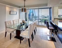 white modern dining room sets. Modern Dining Room Set Nice Beige Rugs As Wel White Granite Table Tops Dark Brown Floor Futuristic Black Wooden Chairs Furniture Sets Leather E
