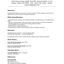 Cna Resumes 8 Objective Resume Certified Nursing Assistant