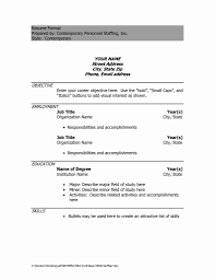 Resume Format Word Document Free Download Sample Resume Download 50 Fresh Sample Resume Word Document Free