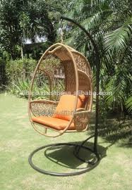 outdoor swing chair hanging egg chair by pe rattan pe wicker poly plastic
