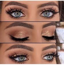 an impressive gold smoky eye makeup tutorial step