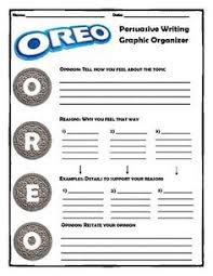 persuasive organizer school stuff school graphic persuasive writing oreo method upper elementary