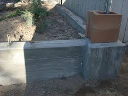picture of retaining wall and footer pouring concrete