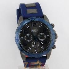 guess watches new articles available online in 7 star guess wrist watch for men in black dial chronograph in blue rubber strap
