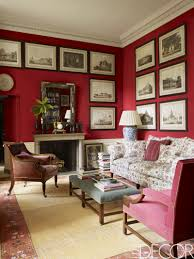 Red And Beige Living Room Living In Color The Best Reds Any Room Sitting Room 01 010 Claret