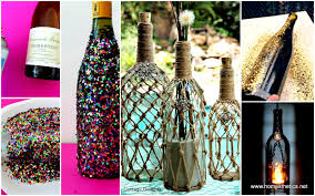 Wine Bottles Decoration Ideas 100 DIY Wine Bottle Projects And Ideas You Should Definitely Try 26