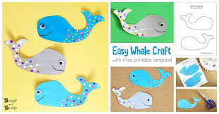 Free Craft Printables Templates Whale Craft For Kids With Free Printable Template Buggy