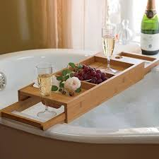 1 usefyl bathtub caddy with wine glass holder 1