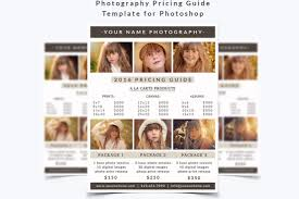 Photography Pricing Template Photography Pricing Guide Template