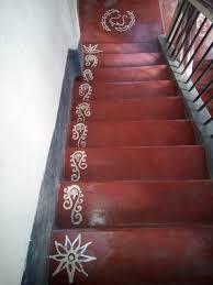Stairs Alpona Design Rangoli Border Designs Rangoli