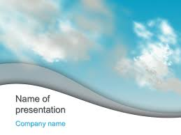 Cloudy Sky Powerpoint Template For Impressive Presentation