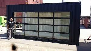 commercial glass garage doors. Commercial Glass Garage Door : Full View Aluminum \u0026 Clear Doors