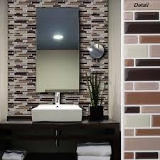 Adhesive Bathroom Mirror Peel And Stick Ceramic Wall Tile