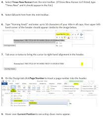 How To Do Apa Format In Word How Do You Set Up An Apa Style Header Using Microsoft Word