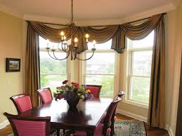 dining room bay window curtains. Interesting Room Dining RoomNice Looking Rounded Pedestal Table For 4 With White  Mantel Plus Room Bay Window Curtains O