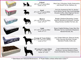 Dachshund Size Chart Pet Bed Size Chart Best Picture Of Chart Anyimage Org