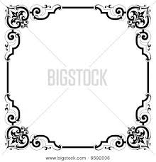 Border frame victorian Gold Elegant Pen And Ink Black And White Scrollwork Border Frame In Vintage Victorian Style Several Colors And Styles Available In Gallery Bigstock Elegant Scroll Frame Vector Photo free Trial Bigstock