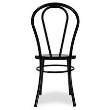 thonet style black retro bentwood steel chair