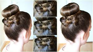Bows In Hair Style diy hair bow bun updo braidsandstyles12 youtube 5626 by wearticles.com
