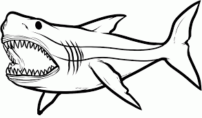 Small Picture Big Angry Sharks Coloring Pages For Kids eTK Printable Sharks