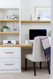 office built in. A DIY Built-in Office Nook Provides The Perfect Space For Home Or Built In S