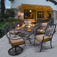 round outdoor dining sets. Modren Dining Saratoga 11piece Patio Dining Collection On Round Outdoor Sets