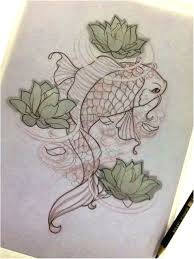 Carpa Feminina Tattoo Sketch Koi Fish Chrisyamamoto Tattoo