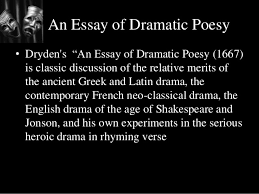 paper literary theory criticism  maharaja krishnakumarsinhji bhavnagar 5 an essay of dramatic poesy•