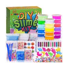 mooham diy slime kit supplies clear crystal slime making kit for girls flo