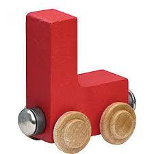 wood train letters l